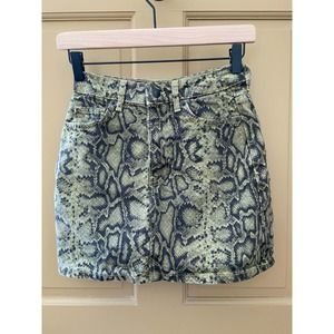 Bershka Snakeskin Cotton Skirt Women's Size 00 EUC